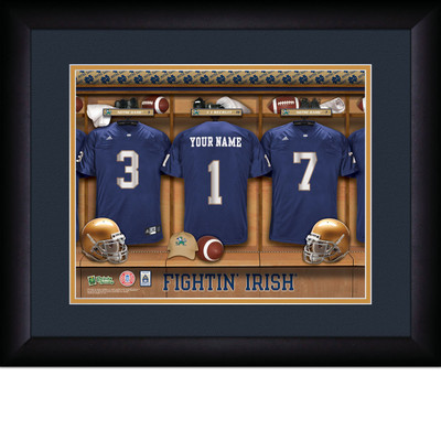 Notre Dame Fighting Irish Personalized Locker Room Print | Get Letter Art | MLR13FBBCFNOTR