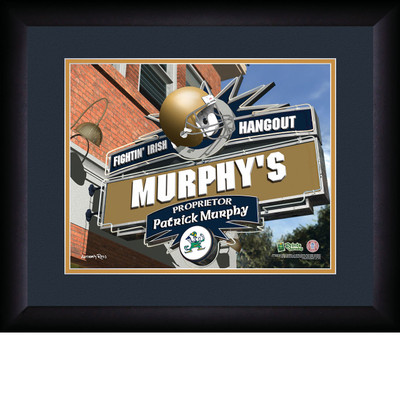 Notre Dame Fighting Irish Personalized Pub Print | Get Letter Art | PSH13FBBCFNOTR