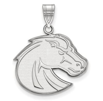 Boise State University Sterling Silver Large Pendant | Logo Art | SS002BOS