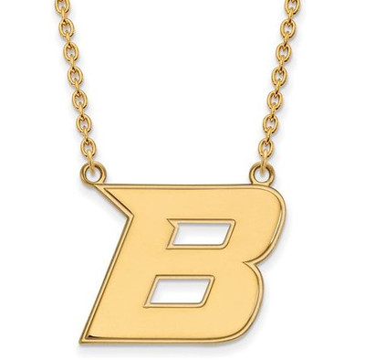 Boise State University Sterling Silver Gold Plated Large Pendant Necklace | Logo Art | GP008BOS-18