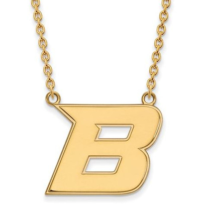 Boise State University 14k Yellow Gold Large Pendant Necklace | Logo Art | 4Y008BOS-18