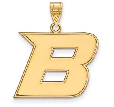 Boise State University 10k Yellow Gold Large Pendant | Logo Art | 1Y006BOS