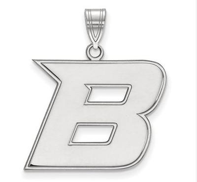 Boise State University 10k White Gold Large Pendant | Logo Art | 1W006BOS