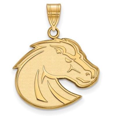 Boise State University 14k Yellow Gold Large Pendant | Logo Art | 4Y002BOS