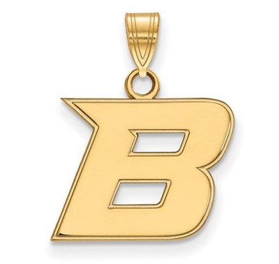 Boise State Broncos 14k Yellow Gold Small Pendant | Logo Art | 4Y005BOS
