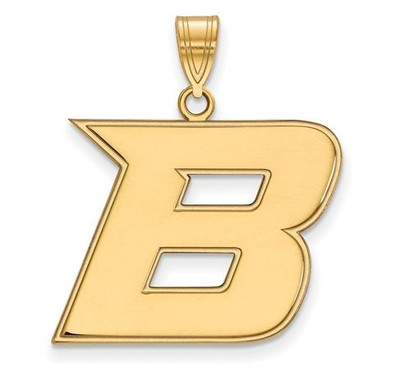Boise State Broncos 14k Yellow Gold Large Pendant | Logo Art | 4Y006BOS
