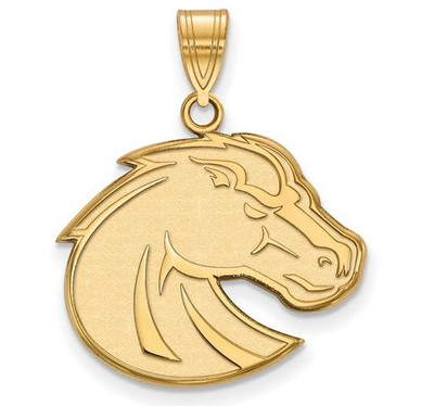 Boise State Broncos 10k Yellow Gold Large Pendant | Logo Art | 1Y002BOS