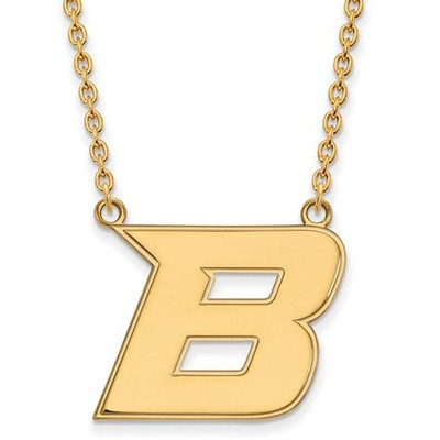 Boise State University 10k Yellow Gold Large Pendant Necklace | Logo Art | 1Y008BOS-18