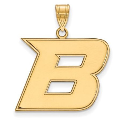 Boise State Broncos Sterling Silver Gold Plated Large Pendant | Logo Art | GP006BOS