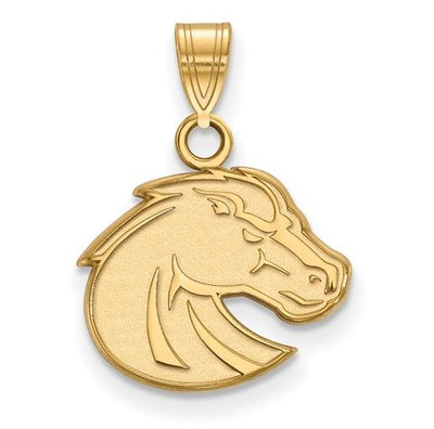 Boise State Broncos 10k Yellow Gold Small Pendant | Logo Art | 1Y001BOS