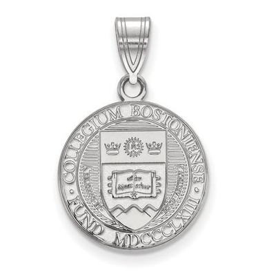 Boston College Sterling Silver Medium Crest Pendant | Logo Art | SS007BOC