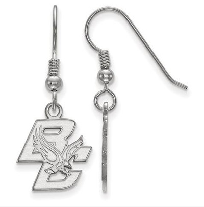 Boston College Sterling Silver Small Dangle Earrings | Logo Art | SS003BOC