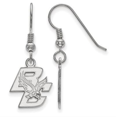 Boston College Sterling Silver Small Dangle Earrings   Logo Art   SS003BOC