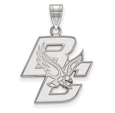 Boston College Sterling Silver Large Pendant | Logo Art | SS002BOC