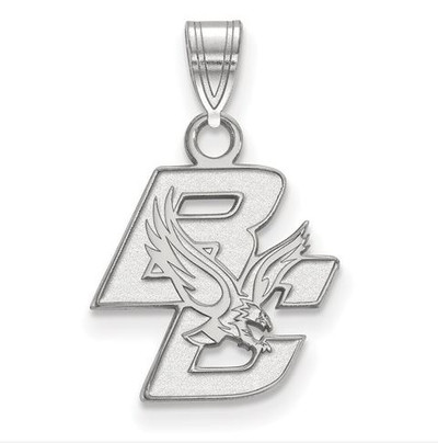 Boston College 14k White Gold Small Pendant | Logo Art | 4W001BOC