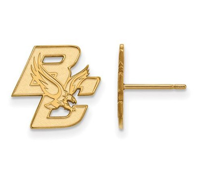 Boston College 10k Yellow Gold Small Post Earrings | Logo Art | 1Y004BOC