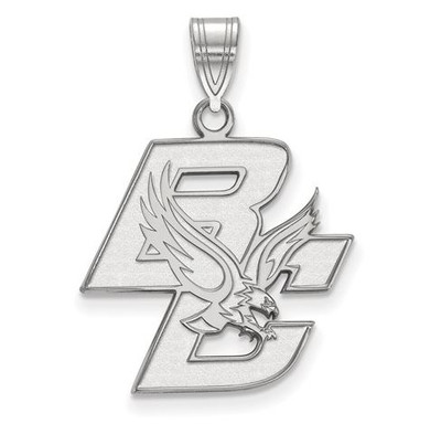 Boston College 14k White Gold Large Pendant | Logo Art | 4W002BOC