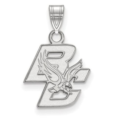 Boston College Sterling Silver Small Pendant | Logo Art | SS001BOC