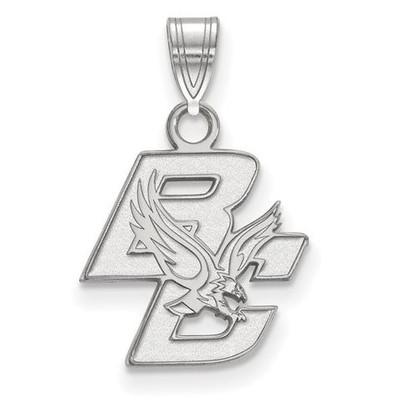 Boston College Sterling Silver Small Pendant   Logo Art   SS001BOC