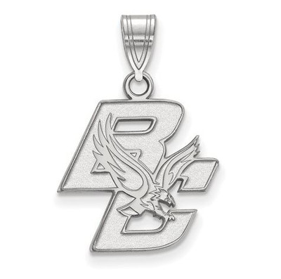 Boston College Sterling Silver Medium Pendant | Logo Art | SS011BOC