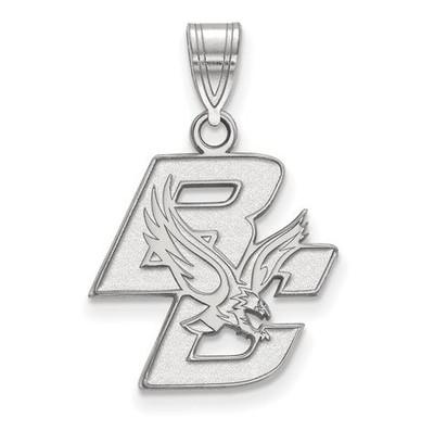Boston College Sterling Silver Medium Pendant   Logo Art   SS011BOC