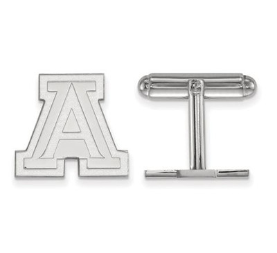 University of Arizona Sterling Silver Cufflinks | Logo Art | SS010UAZ