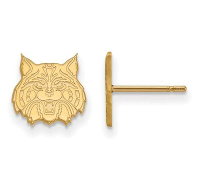 University of Arizona 10k Yellow Gold Extra Small Post Earrings | Logo Art | 1Y030UAZ