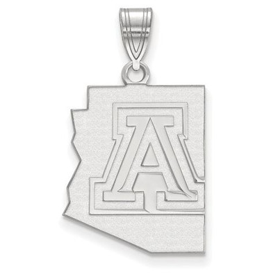 University of Arizona Sterling Silver Large Pendant | Logo Art | SS039UAZ