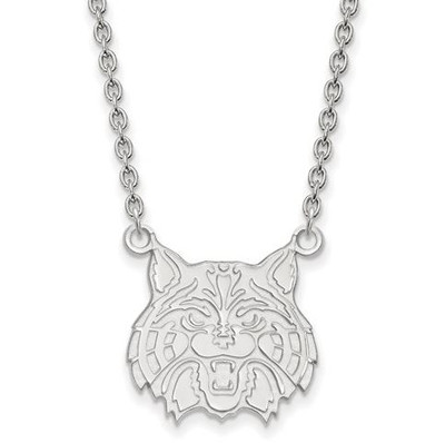 University of Arizona Sterling Silver Large Pendant Necklace | Logo Art | SS033UAZ-18