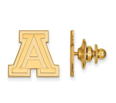 University of Arizona Sterling Silver Gold Plated Lapel Pin | Logo Art | GP009UAZ