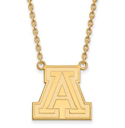 University of Arizona 10k Yellow Gold Large Pendant Necklace   Logo Art   1Y012UAZ-18