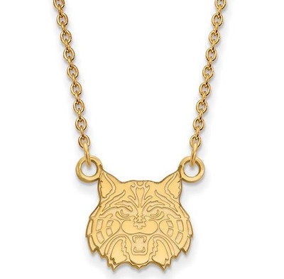 University of Arizona 14k Yellow Gold Small Pendant Necklace | Logo Art | 4Y032UAZ-18