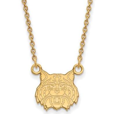 University of Arizona 14k Yellow Gold Small Pendant Necklace | Logo Art | 4Y032UAZ-18