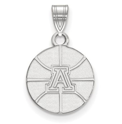 University of Arizona 14k White Gold Small Pendant | Logo Art | 4W036UAZ