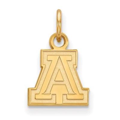 University of Arizona Sterling Silver Gold Plated Extra Small Pendant   Logo Art   GP001UAZ
