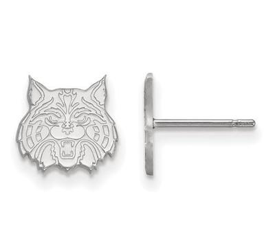 University of Arizona 14k White Gold Extra Small Post Earrings   Logo Art   4W030UAZ