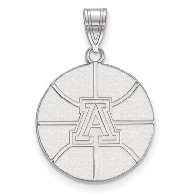 University of Arizona Wildcats Sterling Silver Large Pendant | Logo Art | SS037UAZ