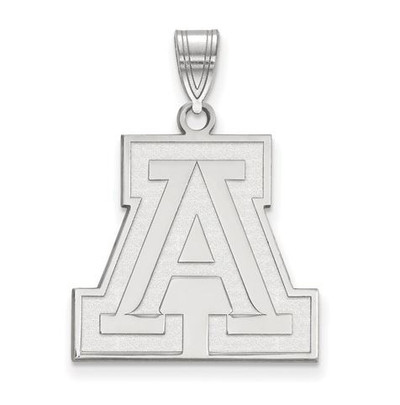 University of Arizona 10k White Gold Large Pendant | Logo Art | 1W004UAZ