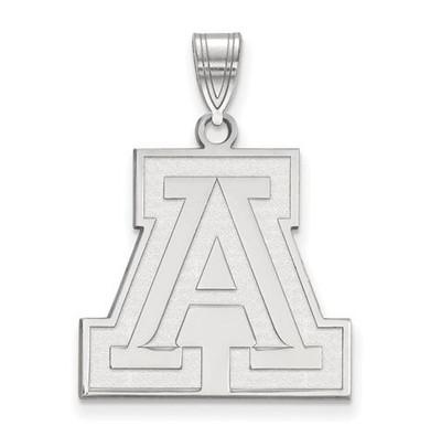 University of Arizona 10k White Gold Large Pendant   Logo Art   1W004UAZ