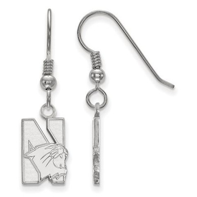 Northwestern University Sterling Silver Small Dangle Earrings | Logo Art | GP004NWU