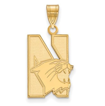Northwestern University 14k Yellow Gold Large Pendant | Logo Art | 4Y002NWU