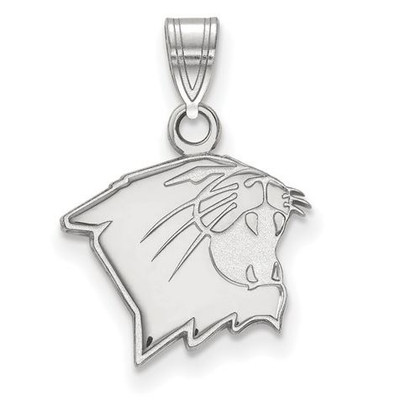 Northwestern University 10k White Gold Small Pendant | Logo Art | SS009NWU