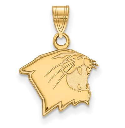 Northwestern University 14k Yellow Gold Small Pendant | Logo Art | SS009NWU