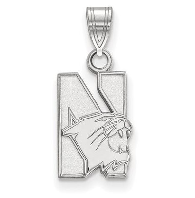 Northwestern University 14k White Gold Small Pendant | Logo Art | 4W001NWU