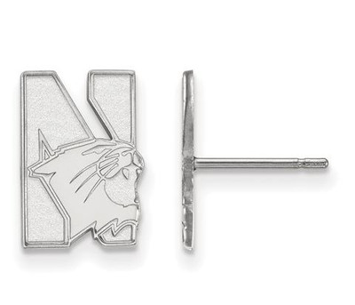 Northwestern University Sterling Silver Small Post Earrings | Logo Art | SS004NWU