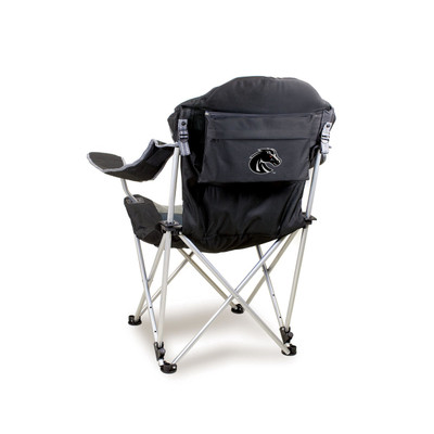 Boise State Broncos Reclining Camp Chair - Black | Picnic Time | 803-00-175-704-0
