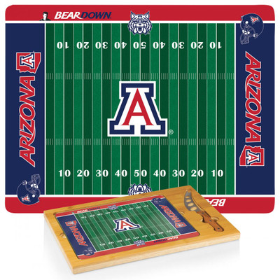 Arizona Wildcats Football Icon Cheese Tray | Picnic Time | 910-00-505-014-0