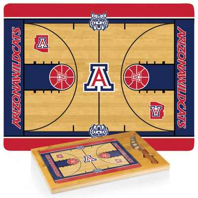 Arizona Wildcats Basketball Icon Cheese Tray | Picnic Time | 910-00-505-015-0