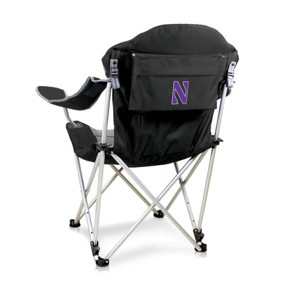 Northwestern Wildcats Reclining Camp Chair  | Picnic Time | 803-00-175-434-0