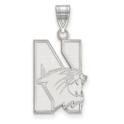 Northwestern University Sterling Silver Large Pendant | Logo Art | SS002NWU